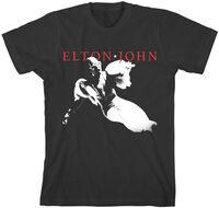 Elton John - Elton John Homage 5 Black Unisex Short Sleeve T-shirt Med