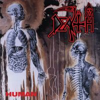 Death - Human [Clear with Bone White Pinwheels with Heavy Brown, Blood Red & Cyan Blue Splatter LP]
