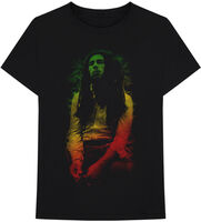 Bob Marley - Bob Marley Rasta Leaves Black Unisex Short Sleeve T-shirt Large