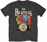 The Beatles - The Beatles Sgt. Pepper Charcoal Unisex Short Sleeve T-Shirt Medium