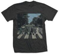 The Beatles - The Beatles Abbey Road Album Cover Black Unisex Short Sleeve T-Shirt 2XL