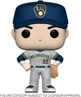 Funko Pop! MLB: - FUNKO POP! MLB: Brewers- Christian Yelich (Road Uniform)