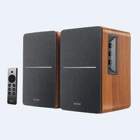 Edifier 4005046 R1280Dbs Bt 5.0 Shelf Spkrs Brown - Edifier 4005046 R1280DBs Brown Powered Bluetooth 5.0 Wireless Desktop/Bookshelf Speakers Pair 42 Watts With Built in Amp and Mul