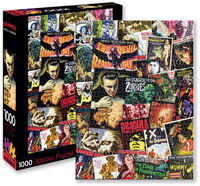 Hammer Classic Horror Movies Collage 1K PC Puzzle - Hammer Classic Horror Movies Collage 1000 Pc Jigsaw Puzzle