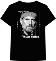 Willie Nelson Always on My Mind Black Ss Tee L - Willie Nelson Always On My Mind Black Unisex Short Sleeve T-shirtLarge
