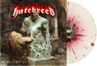 Hatebreed - Weight of the False Self (Bone w/ Blood Splatter)