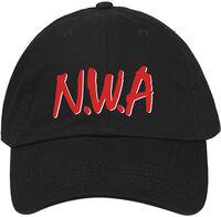 N.W.A. - N.W.A. Red Logo Adjustable Baseball Cap Black