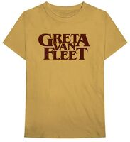 Greta Van Fleet - Greta Van Fleet Logo Old Gold Unisex Short Sleeve T-shirt Med
