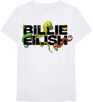 Billie Eilish - Billie Eilish BE Logo White Unisex Short Sleeve T-Shirt Small
