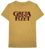 Greta Van Fleet - Greta Van Fleet Logo Old Gold Unisex Short Sleeve T-shirt XL