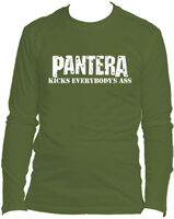 Pantera - Pantera Kicks Everybody's Ass Olive Unisex Long Sleeve T-Shirt Medium