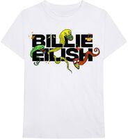 Billie Eilish - Billie Eilish BE Logo White Unisex Short Sleeve T-Shirt Large