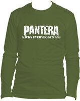 Pantera - Pantera Kicks Everybody's Ass Olive Unisex Long Sleeve T-Shirt Large