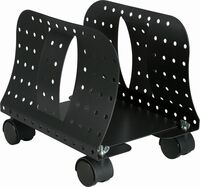 Allsop 27982 Metal Art Cpu Caddy with Wheels Blk - Allsop 27982 Metal Art Cpu Caddy With Wheels Blk