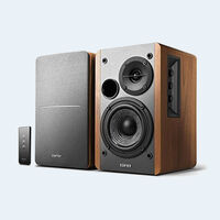 Edifer - Edifier R1280T Powered Bookshelf Speakers - 42 Watts RMS - 2.0 Stereo Active Near Field Monitors - Studio Monitor Speaker - Wood