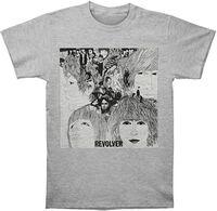 The Beatles - The Beatles Revolver Album Cover Heather Grey Unisex Short Sleeve T-Shirt XL