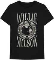 Willie Nelson - Willie Nelson Finger Crest Black Unisex Short Sleeve T-shirt Medium