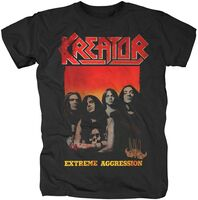 Kreator - Kreator Extreme Aggression Black Unisex Short Sleeve T-shirt Med