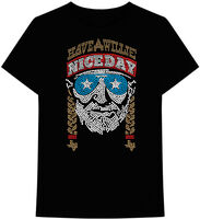 Willie Nelson Have a Willie Nice Day Ss Tee L - Willie Nelson Have A Willie Nice Day Black Unisex Short Sleeve T-shirtLarge