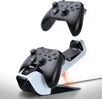 Bionik Bnk-9029 Xb1 Power Stand Controller Dock Wh - BIONIK BNK-9029 POWER STAND XBOX ONE Dual Dock Controller Charge Stand White Black