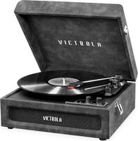 Victorla Vsc590Btlgr Bt Prtbl Tt Lambskin Grey - Victrola VSC-590BT-LGR Bluetooth Portable Turntable (Lambskin Grey)