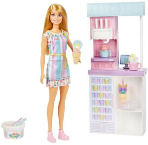 BARBIE I CAN BE MEDIA ICE CREAM PARLOR PLAYSET