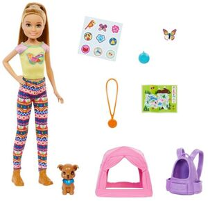 BARBIE FAMILY CAMPING SISTER AND PET STACIE