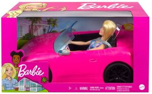 BARBIE DOLL AND VEHICLE BLONDE