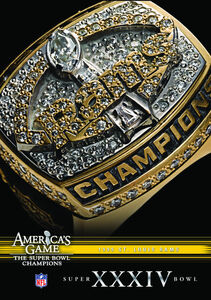 NFL America's Game: 1999 Rams (Super Bowl Xxxiv)