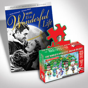 It's A Wonderful Life Dvd And Puzzle Bundle