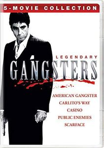 Legendary Gangsters: 5-Movie Collection (American Gangster/ Carlito'sWay/ Casino/ Public Enemies/ Scarface)