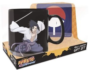 NARUTO AND SASUKE MAGIC MUG AND COASTER GIFT SET
