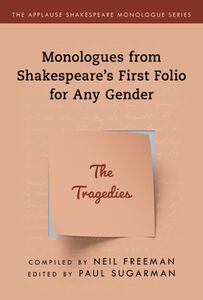 SHAKESPEARES MONOLOGUES FOR ANY GENDER TRAGEDIES
