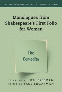 SHAKESPEARES MONOLOGUES FOR WOMEN THE COMEDIES