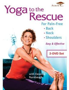Yoga To The Rescue For Pain Free Back Neck & Shoulders [2-Pack]
