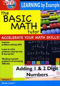 Basic Math Tutor Adding 1 & 2 Digit Numbers