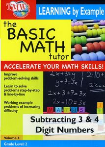 Basic Math Tutor Subtracting 3 & 4 Digit Numbers