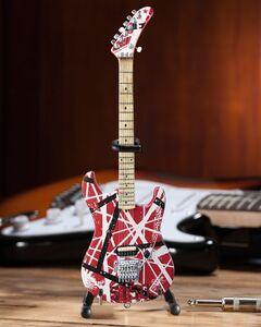 EDDIE VAN HALEN 5150 RED WHITE & BLACK MINI GUITAR