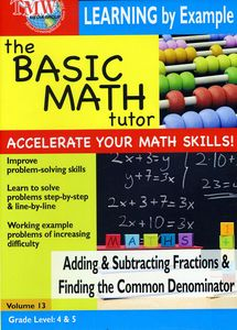 Basic Math Tutor Adding & Subtracting Fractions & Finding CommonDenominator