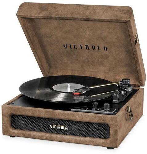 Victorla Vsc590Btlbn Bt Prtbl Tt Lambskin Brown - Victorla VSC-590BT-LBN Bluetooth Portable Turntable (Lambskin Brown)