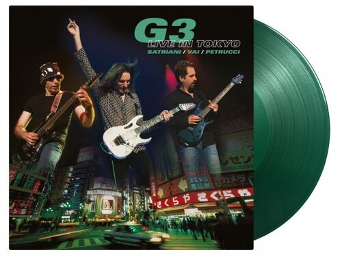 G3 Joe Satriani / Johnson,Eric / Vai,Steve - Live In Tokyo [Limited 15th Anniversary Edition 180-Gram TranslucentGreen Colored Vinyl]