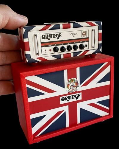 ORANGE MINI UK STACK GUIT AMP REPLICA COLLECTIBLE