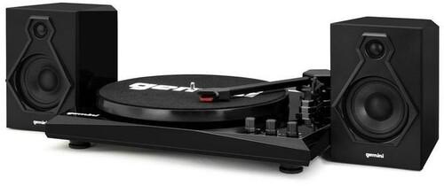 GEMINI TT-900BB TT MUSIC SYSTEM BT W/ SPEAKERS BLK