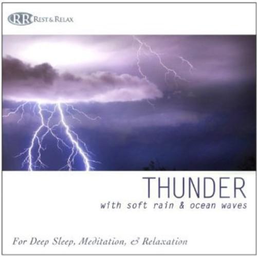 Thunder: With Soft Rain & Ocean Waves Thunderstorm