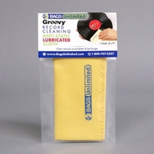Bu S12W-Rp 50 Pk Rice-Paperpoly Sleeve - Bags Unlimited ASA-2 - Groovy Record Cleaning Cloth - Microfiber - 8 X 9 Inches (Yellow)