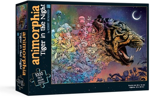 Rosanes, Kerby - Animorphia Tiger in the Night Puzzle