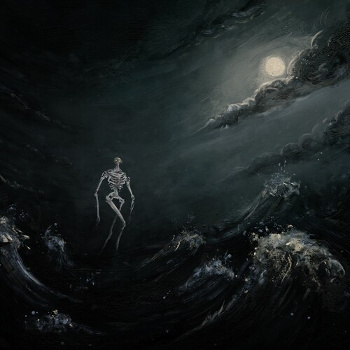 Into The Raging Sea (Sea Blue/ Bone Splatter)