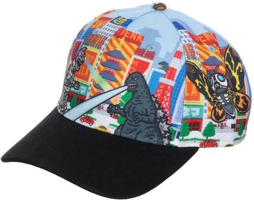 GODZILLA AOP PRE-CURVED SNAPBACK BASEBALL CAP