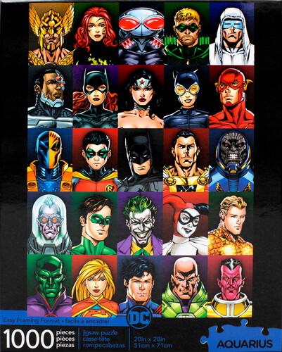 DC COMICS FACES 1000 PC PUZZLE