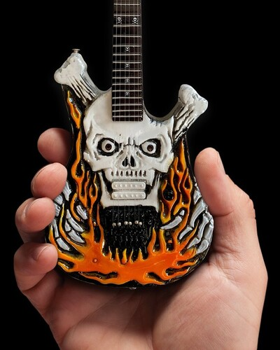 GEORGE LYNCH DOKKEN FLAMING SKULL MINI GUITAR